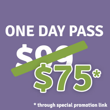 One Day Passes - $75 - Tickets on sale now!