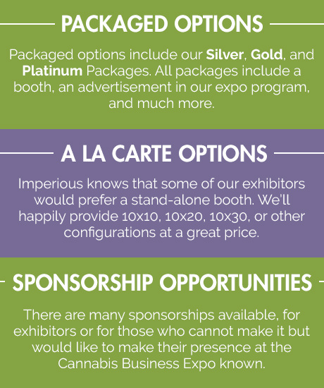 Imperious Expo provides packaged, a la carte, and sponsorship opportunities for the Cannabis Business Expo